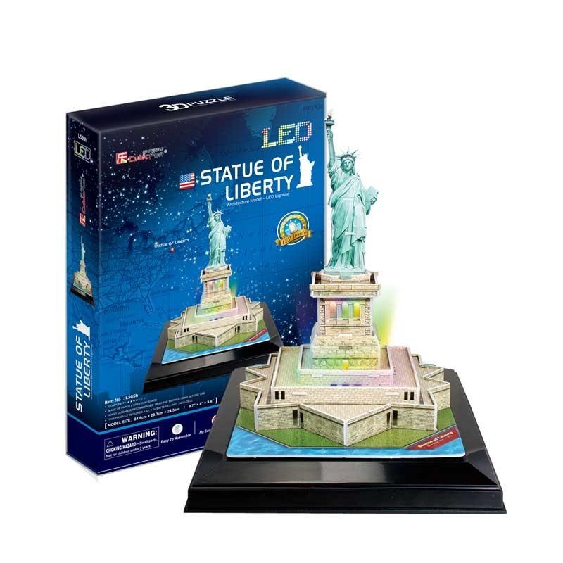 Puzzle 3D Estatua de la Libertad con Luces LED