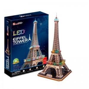 Puzzle 3D Torre Eiffel con Luces LED