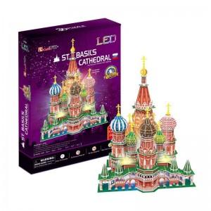 Puzzle 3D Catedral San Basilio con Luces LED