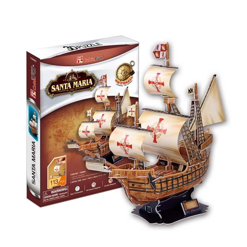 Puzzle 3D Carabela Santa María
