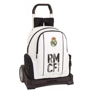 Mochila Casual Con Carro Oficial Real Madrid