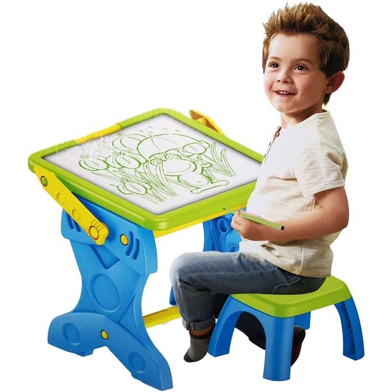 Mesa y Pizarra Infantil de Dibujo