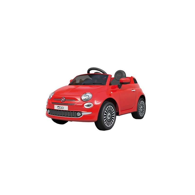Coche de Batería Infantil Fiat 500 Rojo