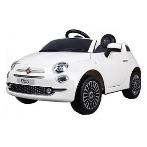 Coche Eléctrico Infantil Fiat 500 Blanco