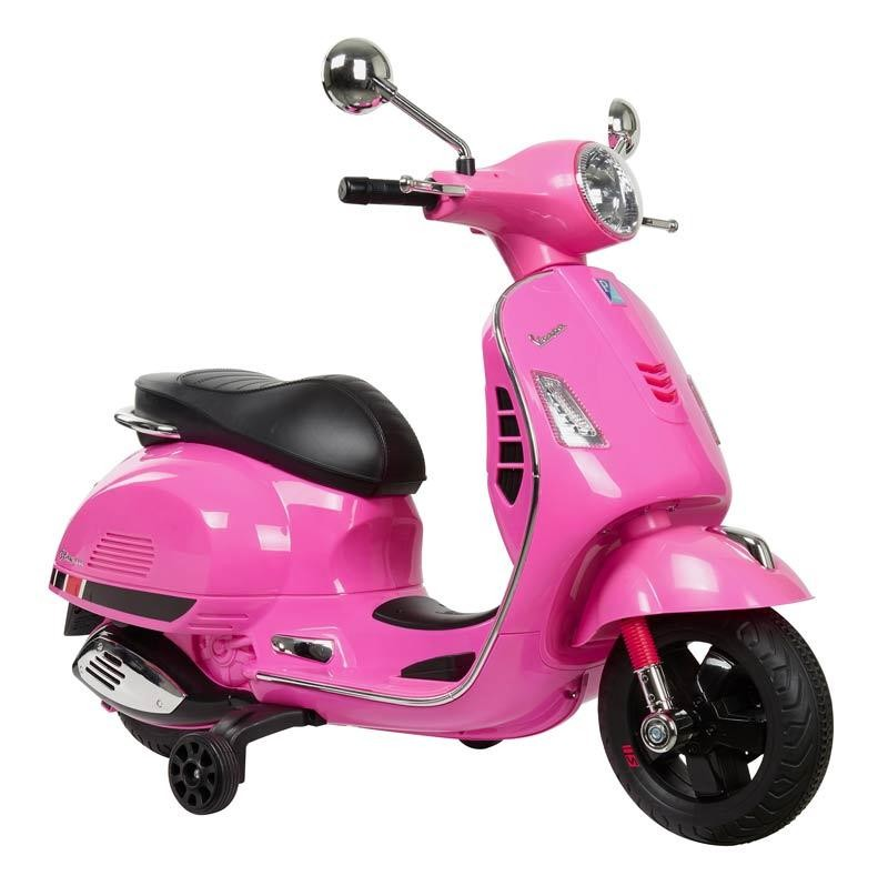Moto de Batería para Niños Vespa Rosa