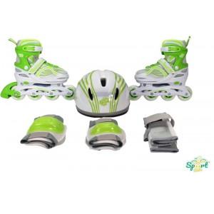 Patines con Casco Verde T30-33