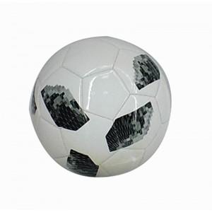 Balón de Fútbol de Cuero Blanco y Negro