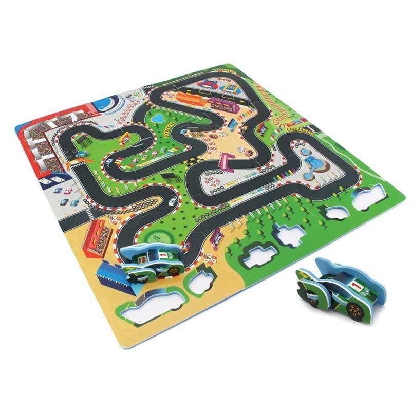 Puzzle de Carrera Goma EVA