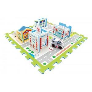 Alfombra Infantil Hospital con Ambulancia