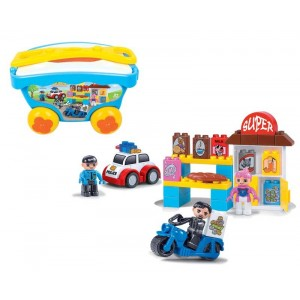 Juego de Bloques Infantil con Carro