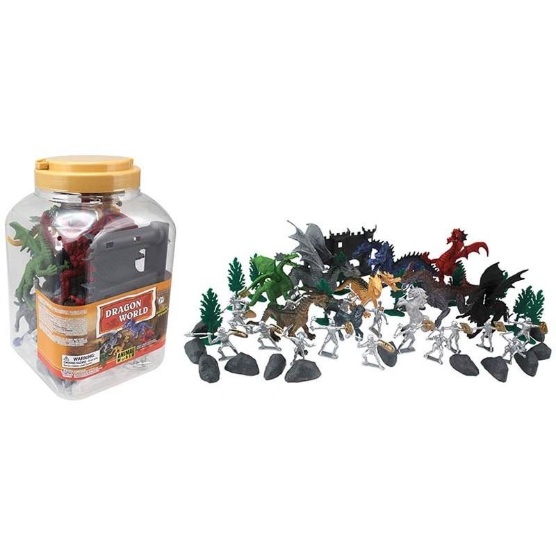 Set de Figuras de 50 Dragones