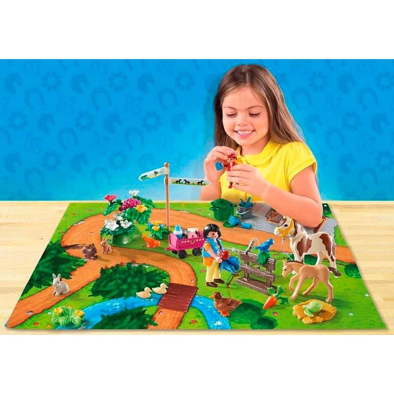 Playmobil Play Map Paseo con Ponis