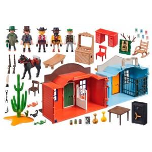 Playmobil Western Maletín Ciudad del Oeste