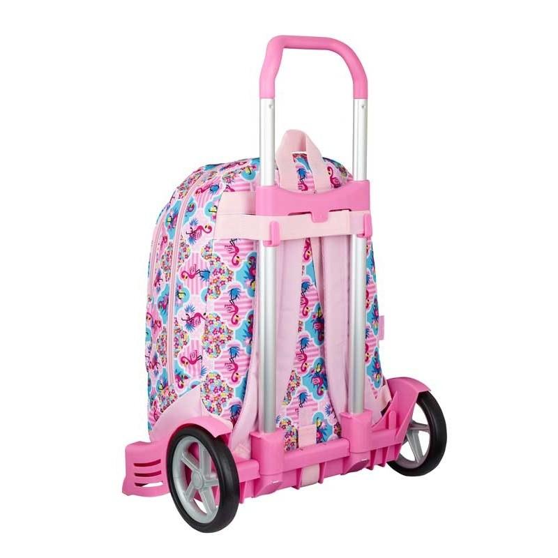 Mochila con Carro Moos Flamingo Rosa