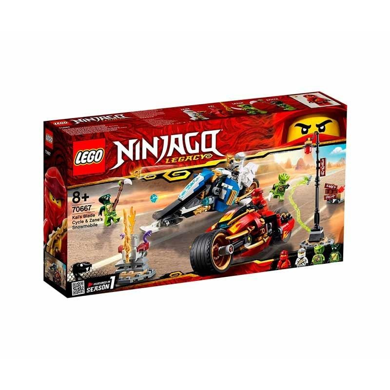 Lego Ninjago Moto Acuchilladora Kai y Motonieve