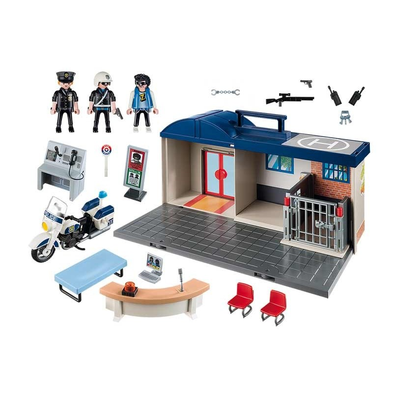 Playmobil City Action Maletín Comisaría