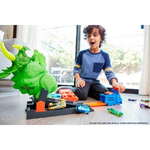 Hot Wheels City Ataque del Triceratops