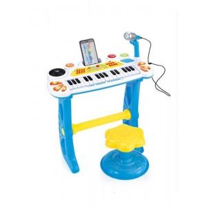 Piano Electrónico con Micro y Taburete