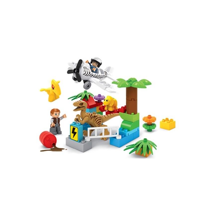 Set de Bloques Infantil Parque de Dinosaurios
