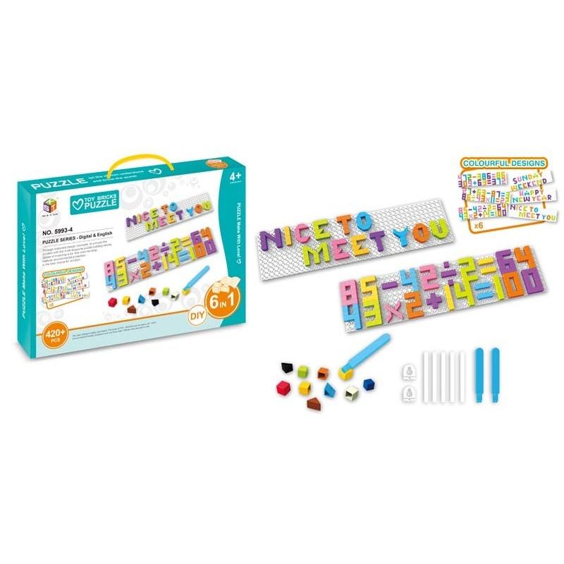 Puzzle Mosaico Letras y Números