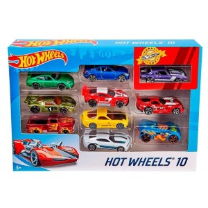 Pack 10 coches Hot Wheels