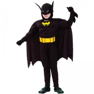 Batman disfraz Gris S