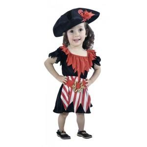 Disfraz de Pirata Niña XS