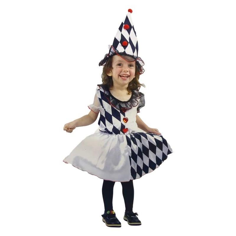 Disfraz de Arlequin Niña XXS