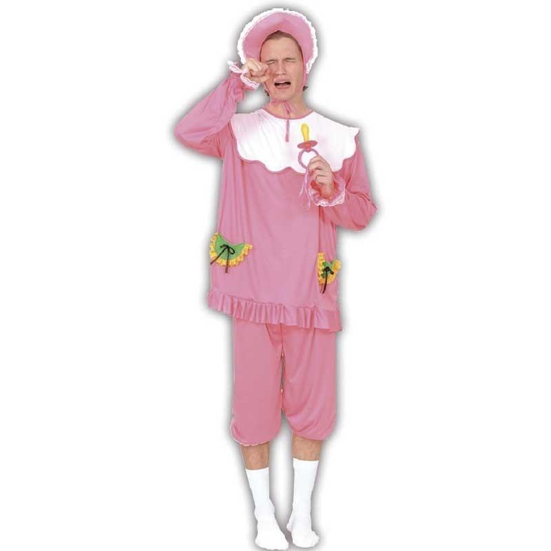 Bebé rosa disfraz adulto