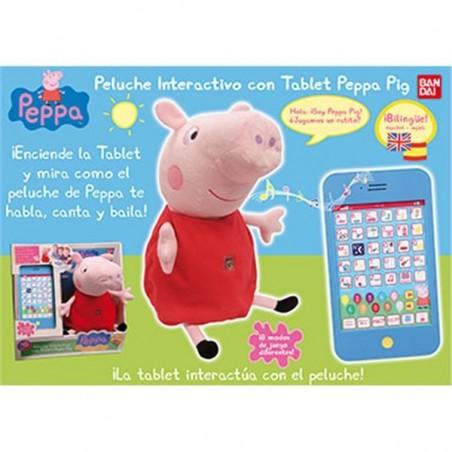 Peluche interactivo Peppa Pig con tablet - Bandai