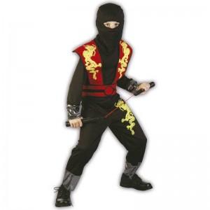 L Ninja dragón rojo disfraz