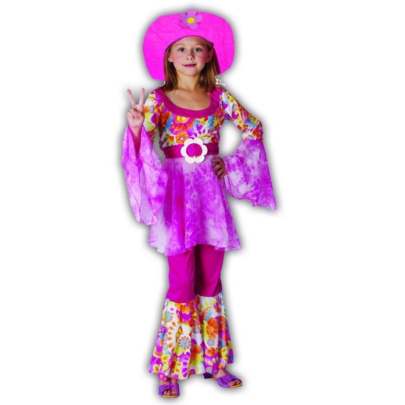 L Hippie infantil disfraz