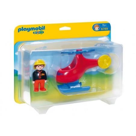 Playmobil 1.2.3. Helicoptero de Rescate