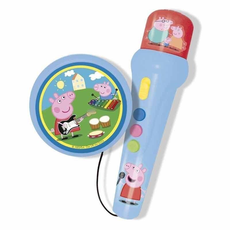 Peppa Pig Micrófono de mano con Amplificador