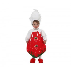 Disfraz de fresa para bebe 12-24M