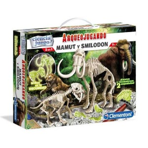 Arqueojugando Mamut y Smilodon Fosforescente