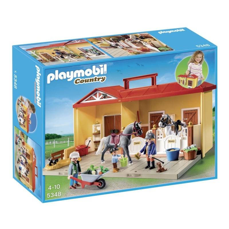 Establo de caballos maletín - Playmobil