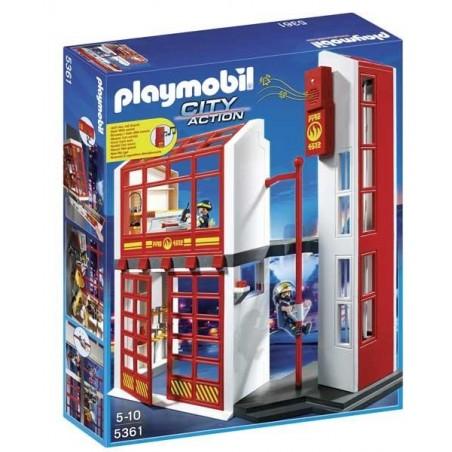 Estación de Bomberos con Alarma Playmobil