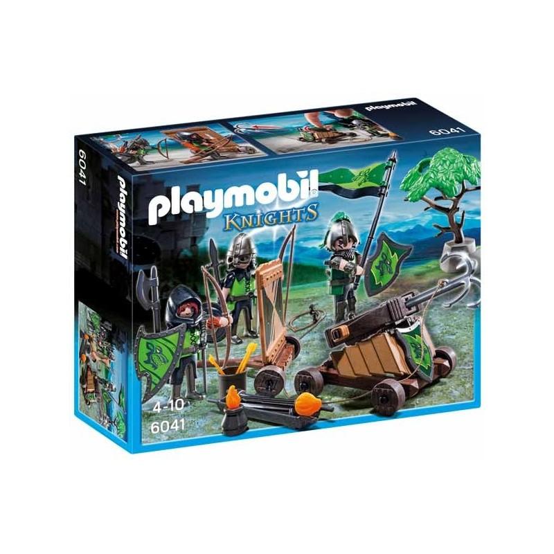 Caballeros del Lobo con Catapulta Playmobil