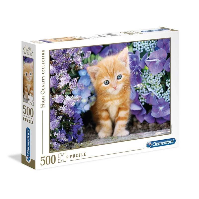 Puzzle 500 Piezas Gatito Rubio