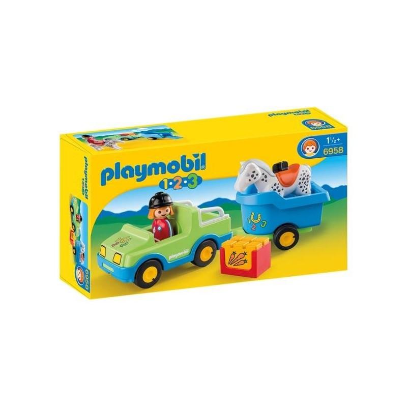 Coche con Remolque 1.2.3 Playmobil