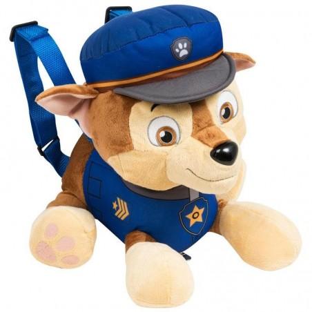 Mochila peluche 2 en 1 Paw Patrol Chase Policía