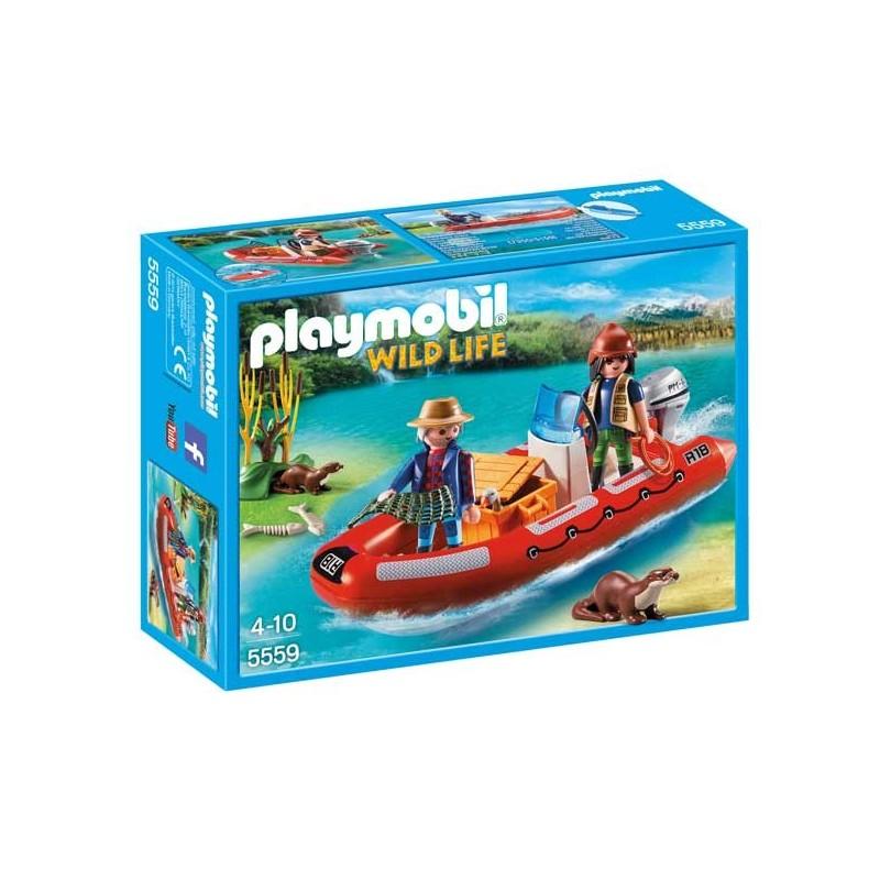 Bote Hinchable con Exploradores Playmobil