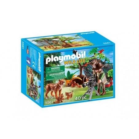 Familia de Linces con Cámara Playmobil