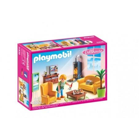 Sala de Estar con Fuego Playmobil