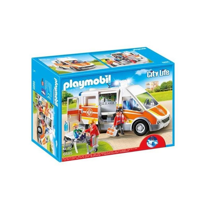 Ambulancia con Luces y Sonido Playmobil