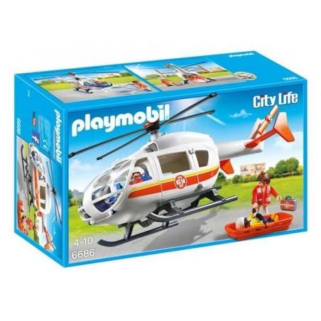 Helicóptero Médico Playmobil