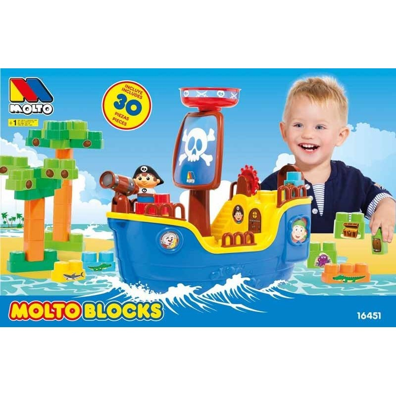 Barco Pirata con Bloques 30 Piezas