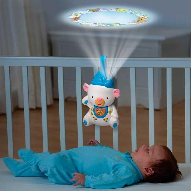 Osito Dormilón con Luz Azul