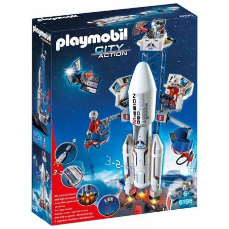 Cohete con Plataforma de Lanzamiento Playmobil